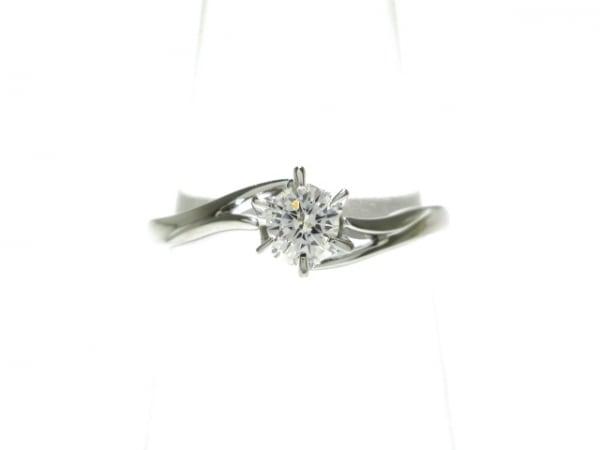 ROYAL ASSCHER(ロイヤルアッシャー) リング 17美品  Pt900×ダイヤモンド 0.17ct