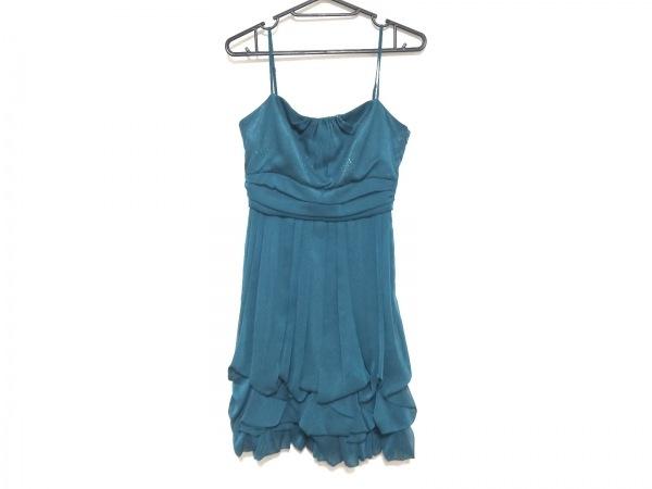 La Defence(ラデファンス) ドレス サイズ9 M レディース美品  ダークグリーン ラメ