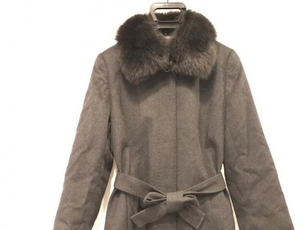ジェイホワイト コート サイズ11 M レディース美品  ダークグレー 冬物/カシミヤ