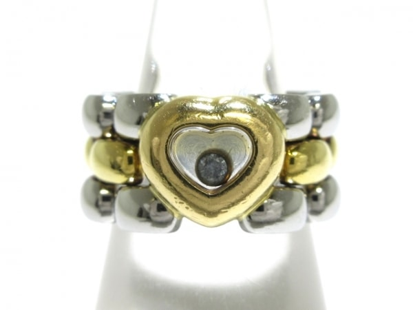 ショパール リング 82/8401-20 K18YG×ステンレススチール×ダイヤモンド シルバー