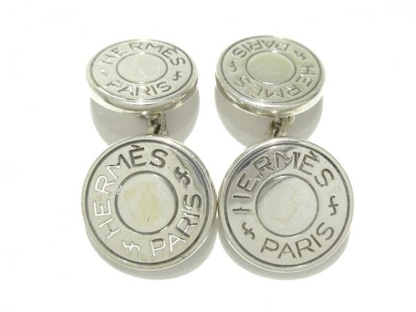 HERMES(エルメス) カフス セリエ 金属素材 シルバー