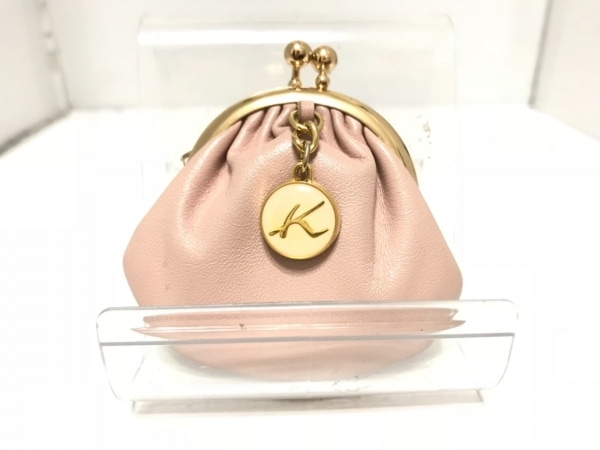 KITAMURA(キタムラ) コインケース ピンク×ゴールド×アイボリー ミニサイズ/がま口