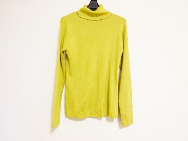 インゲボルグ 長袖セーター サイズ9 M レディース イエロー タートルネック/ビーズ