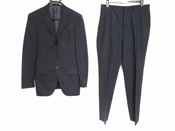 インヘイルエクスヘイル シングルスーツ サイズ170A メンズ 黒×ライトグレー