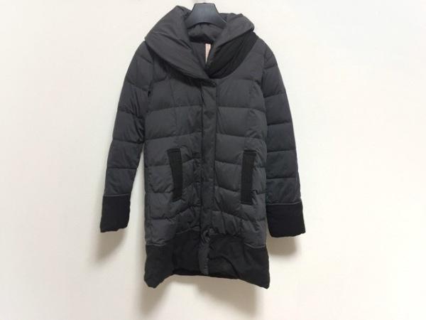 粧う YOSOOU(ヨソオウ) ダウンコート サイズ2 M レディース ダークグレー×黒 冬物