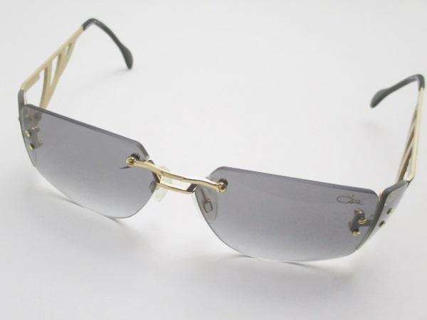 カザール サングラス MOD.926 黒×ゴールド ラインストーン プラスチック×金属素材
