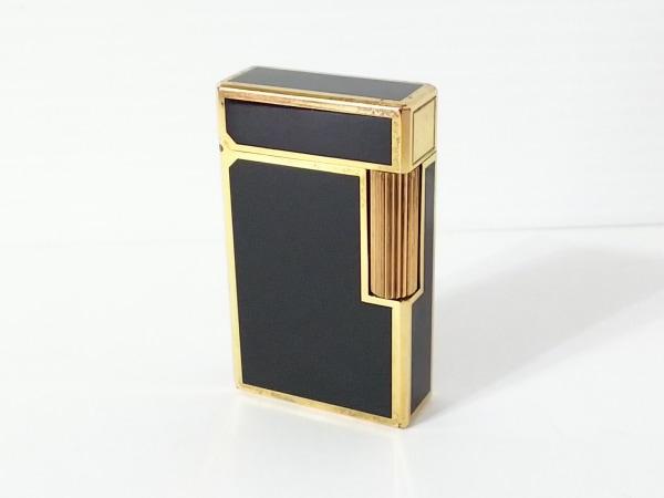 Dupont(デュポン) ライター 黒×ゴールド 着火確認済み 金属素材