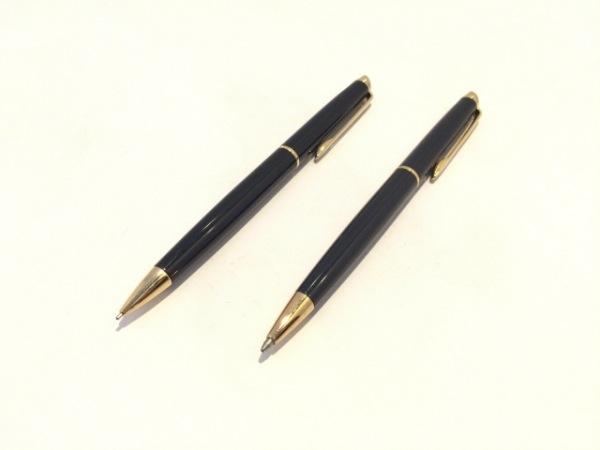 WATERMAN(ウォーターマン) ペン美品  黒×ゴールド プラスチック×金属素材