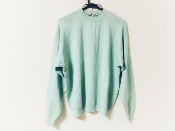 クリスチャンディオールムッシュ 長袖セーター サイズP メンズ美品  ライトグリーン