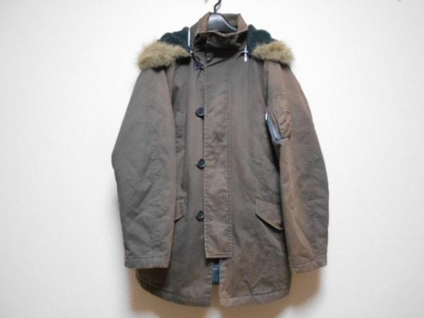 abx(エービーエックス) コート サイズ3 L メンズ ダークブラウン 冬物/ジップアップ