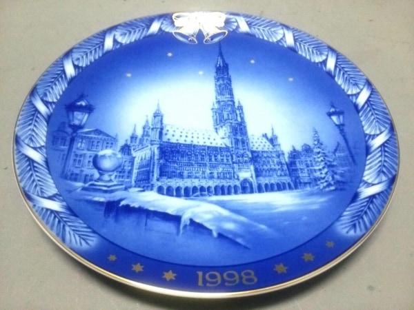 ローゼンタール プレート新品同様  ネイビー×白×ゴールド イヤープレート1998 陶器