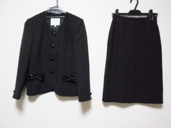 kimijima(キミジマ) スカートスーツ サイズ9 M レディース 黒 リボン