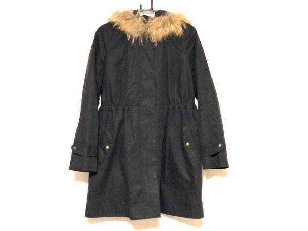 ラピスルーチェビームス コート サイズ36 S レディース美品  黒 ファー/冬物