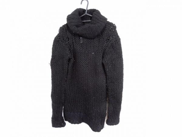 ヨウジヤマモト 長袖セーター サイズ3 L レディース 黒 タートルネック