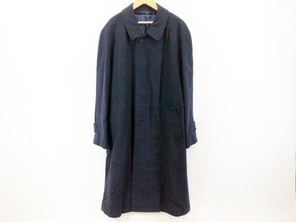 ピエールカルダン コート サイズA6 メンズ美品  黒×ダークネイビー×ボルドー