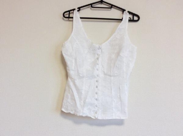 アンフォンティーヌ ノースリーブシャツブラウス サイズ2 M レディース 白 刺繍
