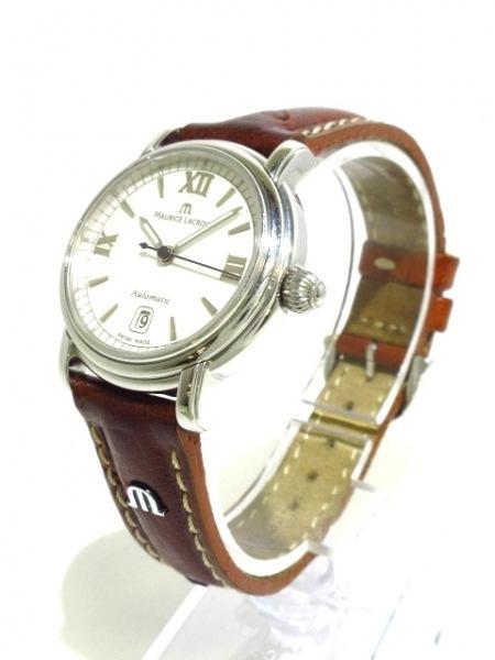 MauriceLacroix(モーリスラクロア) 腕時計 PT6014 レディース 革ベルト 白