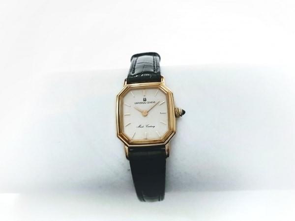ユニバーサル ジュネーブ 腕時計 2D0298 レディース 革ベルト シルバー