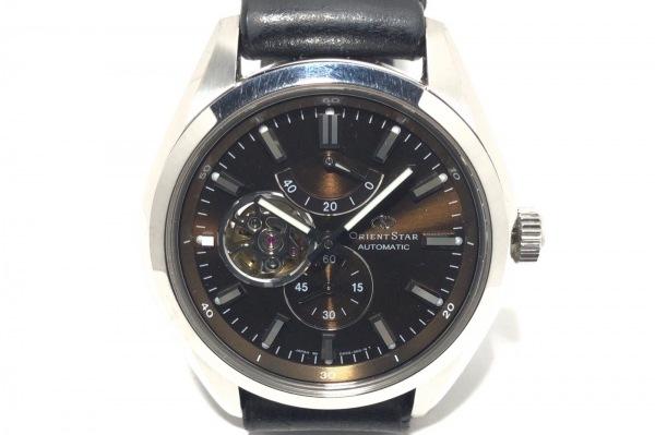 オリエントスター 腕時計 DK02-C0-B メンズ 革ベルト/裏スケ ダークブラウン