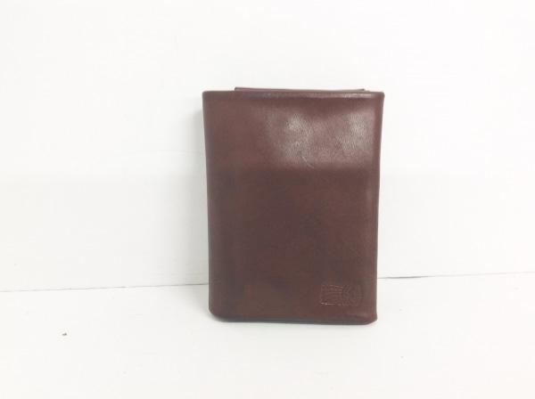 REDMOON(レッドムーン) 2つ折り財布 ダークブラウン レザー