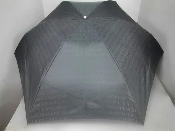 CHARLESJOURDAN(シャルルジョルダン) 折りたたみ傘美品  黒 化学繊維