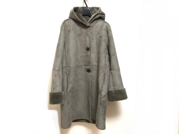 qualite(カリテ) コート サイズ38 M レディース美品  ダークグレー 冬物