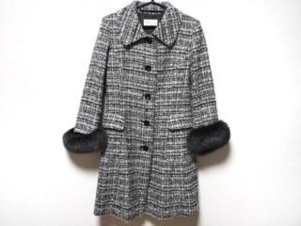 アルマアンローズ コート サイズ38 M レディース 黒×白×ダークブラウン