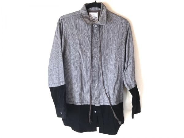 SHAREEF(シャリーフ) 長袖シャツ サイズ1 S メンズ グレー×黒