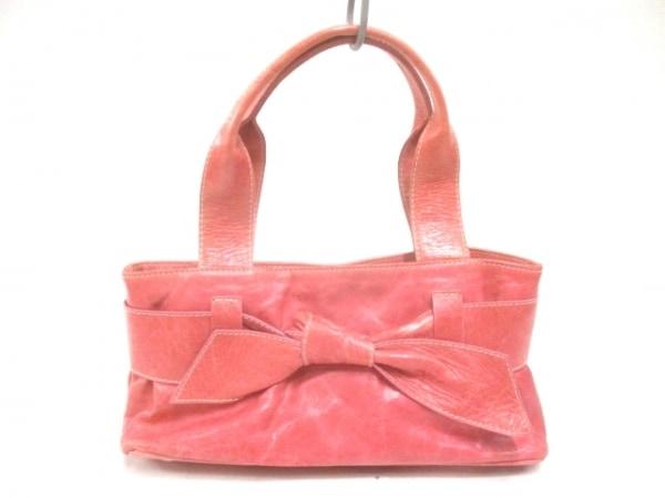 ROBERTAGANDOLFI(ロベルタガンドルフィ) トートバッグ ピンク リボン レザー