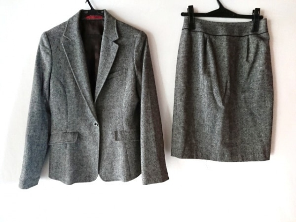RHYME(ライム) スカートスーツ レディース グレー×黒×白