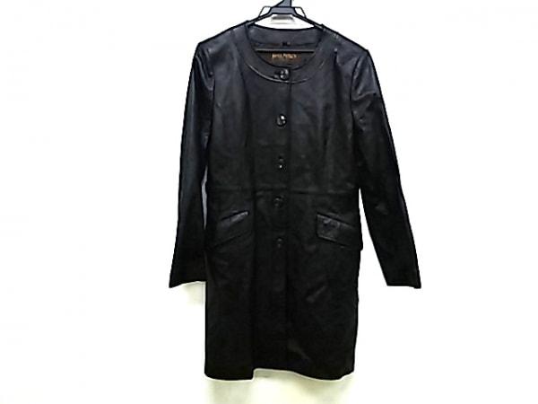 BALMAIN(バルマン) コート サイズ13 L レディース 黒 レザー/春・秋物