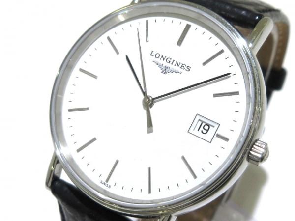 ロンジン 腕時計 グランドクラシック L4.720.4/L4.220.4 メンズ 革ベルト 白