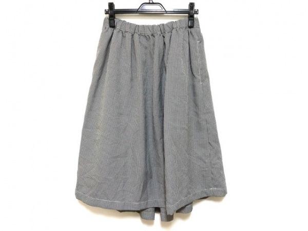 ブラックコムデギャルソン ロングスカート サイズXS レディース 白×黒 千鳥格子