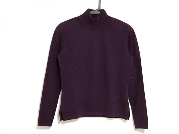 レナランゲ 長袖セーター サイズ38 M レディース パープル ハイネック/肩パッド