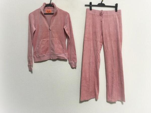 ジューシークチュール レディースパンツセットアップ レディース美品  ピンク ベロア