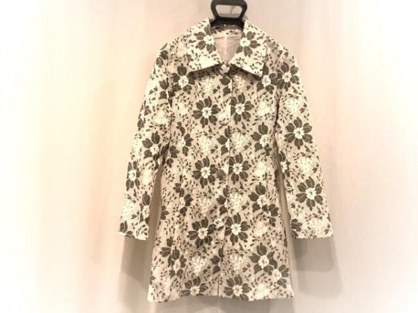 OTTO(オットー) コート サイズ7 S レディース美品  白×黒 春・秋物/花柄/ Collection