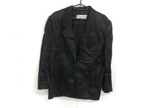 クリスチャンディオール ジャケット サイズM レディース美品  ダークグレー 肩パッド