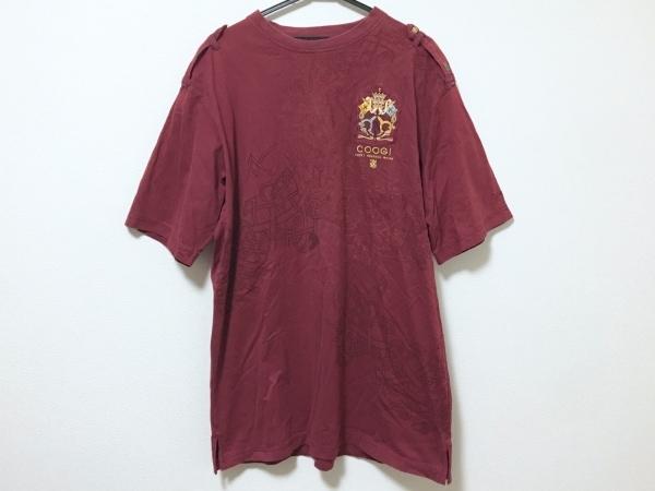 COOGI/CUGGI(クージー) 半袖Tシャツ サイズXL メンズ ボルドー