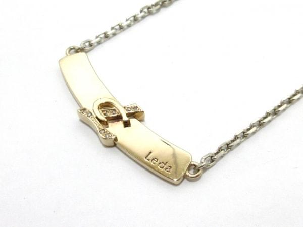 レダシルマ ネックレス 金属素材×K10YG×ダイヤモンド シルバー 0.04カラット