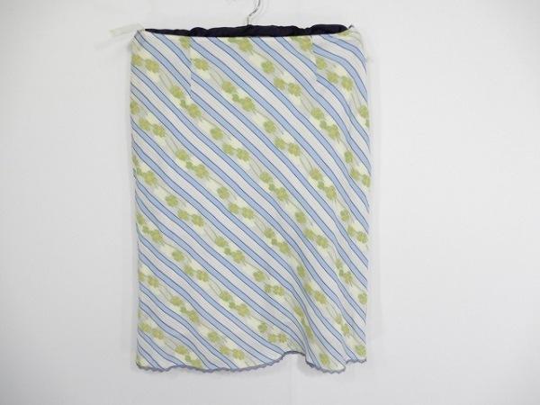 ケイタマルヤマ スカート サイズ1 S レディース アイボリー×ブルー×グリーン