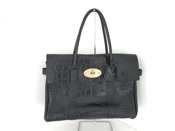 MULBERRY(マルベリー) ハンドバッグ - 黒 型押し加工 レザー