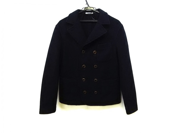 BOGLIOLI(ボリオリ) コート サイズ46 S メンズ ネイビー ショート丈/冬物