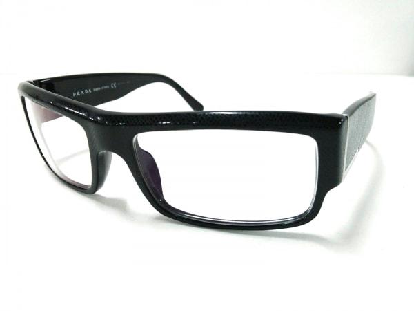 720e8159846b PRADA(プラダ) メガネ VPR20H クリア×黒×シルバー 度入り プラスチック ...