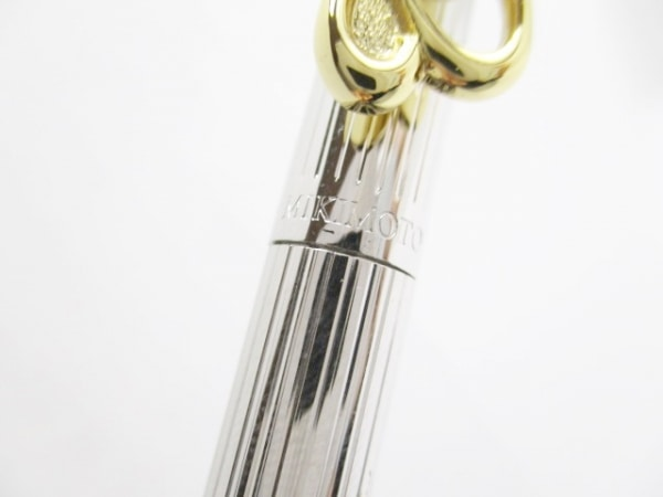 mikimoto(ミキモト) ボールペン シルバー×ゴールド×アイボリー インクあり(黒)