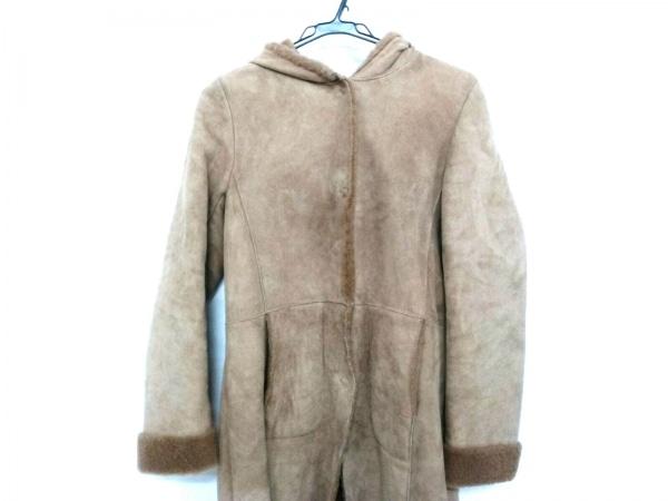 オーウェンバリー コート サイズ36 S レディース美品  ベージュ 冬物/ムートン