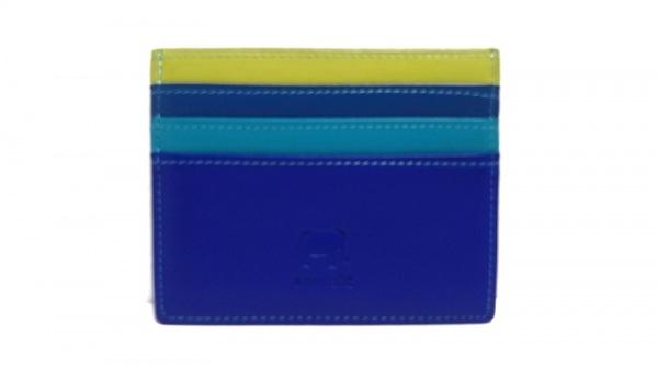 マイウォリット カードケース美品  ブルー×グリーン×ライトグリーン レザー