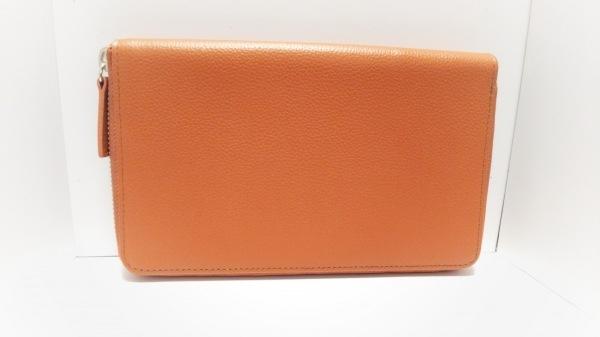 ASHFORD(アシュフォード) 手帳美品  ブラウン ラウンドファスナー レザー