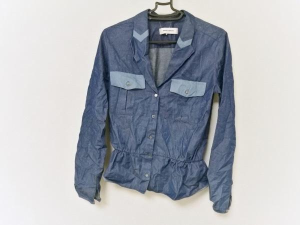 MAURO GRIFONI(マウログリフォーニ) ジャケット レディース ブルー×ライトブルー