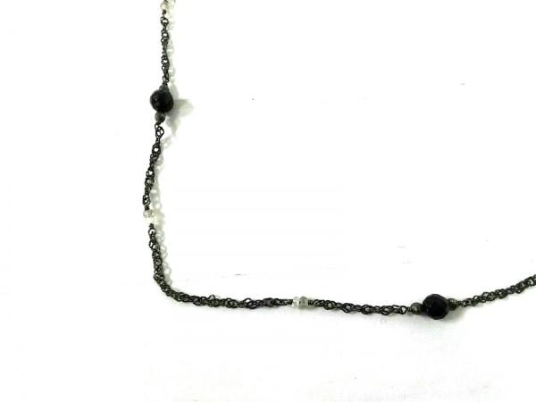 agete(アガット) ネックレス 金属素材×カラーストーン ゴールド×黒×クリア