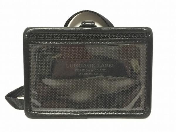 LUGGAGE LABEL(ラゲッジレーベル) パスケース 黒 レザー×ビニール